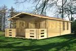 Log Cabin Maldon - 4 x 8 Twinskin Log Cabin