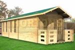 Log Cabin 4x11m Jack Twinskin log cabin
