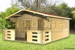 Log Cabin Maidstone - 4 x 4 m Log Cabin