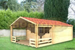 Log Cabin Tonbridge - 4 x 4 m Log Cabin