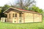 Log Cabin Canterbury - 5m x 7m log cabin