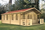 Log Cabin Exeter - 5x8m log cabin