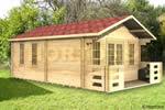 Log Cabin 6x7m Pulborough twinskin log cabin